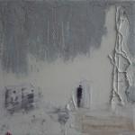 Grijs verleden Acryl/mixed media/ canvas 30/30cm