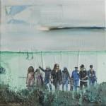 Family time 1 Acryl/mixed media/ canvas 20/20cm