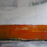 mmm Orange Acryl/mixed media/ canvas 100/120cm