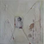 Crossing, Acryl/ mixed media / canvas.  30/30cm
