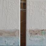 Winter 1 en Winter 2, Acryl/ mixed media/ canvas 20/20cm