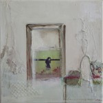 Room with a view, Acryl/mixed media/ canvas 30/30cm