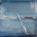 Blue as blue can be, Acryl/mixed media/ canvas 30/30cm